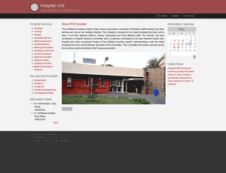 hospital.iitd.ac.in screenshot