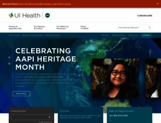 hospital.uic.edu screenshot