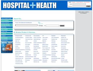 hospitalandhealth.com.au screenshot