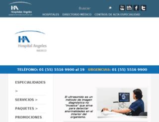 hospitalangelesmexico.com screenshot