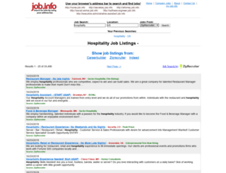 hospitality.job.info screenshot