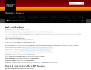 hospitality.uoguelph.ca screenshot
