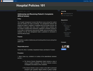 hospitalpolicies101.blogspot.com screenshot