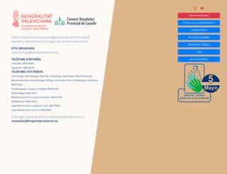 hospitalprovincial.es screenshot