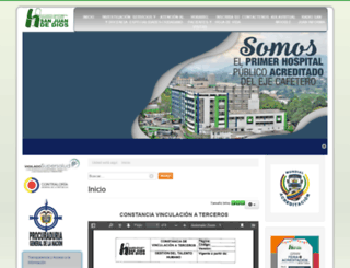 hospitalquindio.gov.co screenshot