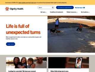 hospitals.dignityhealth.org screenshot