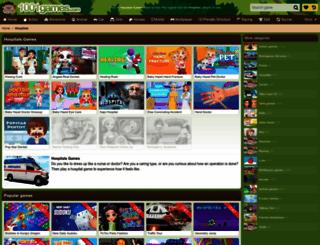 hospitals.gamesxl.com screenshot