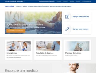 hospitalvillalobos.com.br screenshot