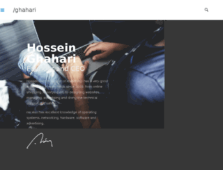 hossein.co screenshot