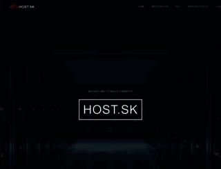 host.sk screenshot