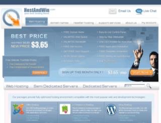 hostandwin.com screenshot