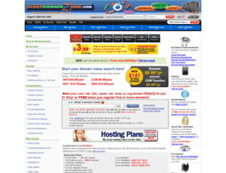 hostdomainzone.com screenshot