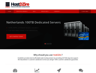 hostdzire.com screenshot