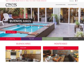 hostelcircus.com screenshot