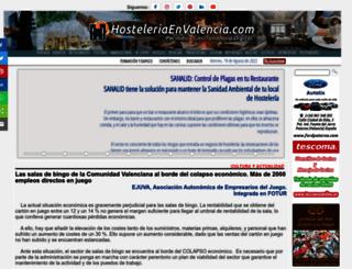 hosteleriaenvalencia.com screenshot