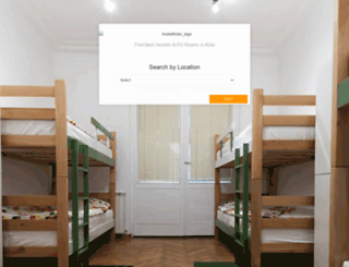 hostelfinder.in screenshot