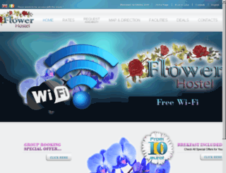 hostelflower.com screenshot