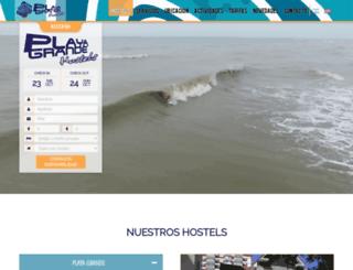 hostelplayagrande.com.ar screenshot