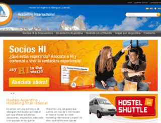 hostels.org.ar screenshot