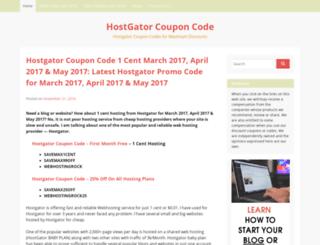 hostgator-coupon-code.com screenshot