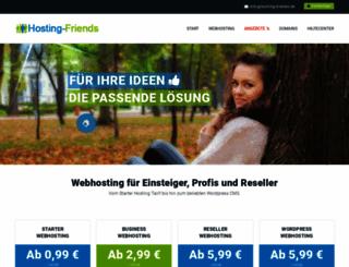 hosting-friends.de screenshot