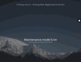 hosting-linux.it screenshot