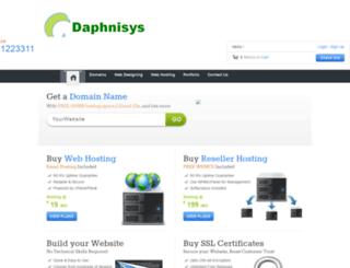 hosting.daphnisys.com screenshot