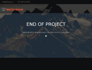 hosting.minezup.nl screenshot