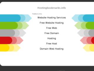 hostingbookmarks.info screenshot