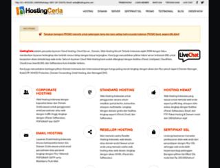 hostingceria.com screenshot