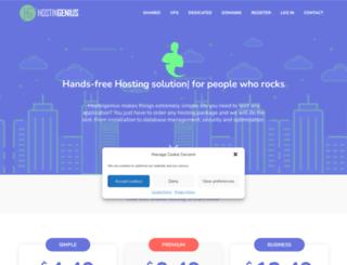 hostingenius.com screenshot