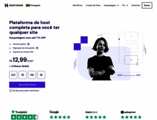 hostinger.com.br screenshot