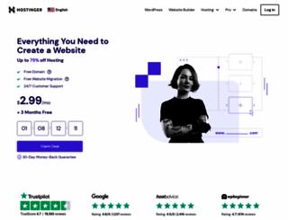 hostinger.com screenshot