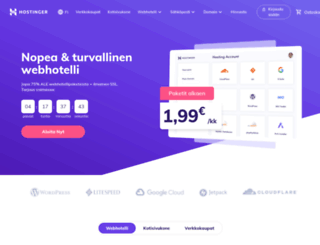 hostinger.fi screenshot