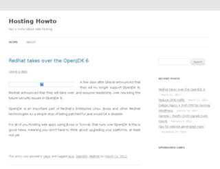 hostinghowto.net screenshot