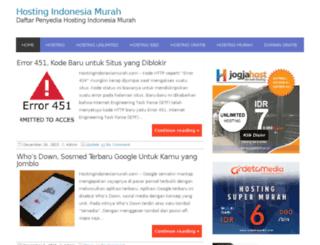 hostingindonesiamurah.com screenshot