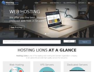 hostinglions.com screenshot