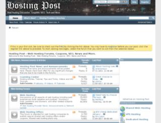 hostingpost.com screenshot