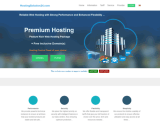 hostingsolution24.com screenshot