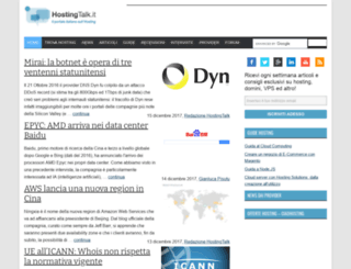 hostingtalk.it screenshot