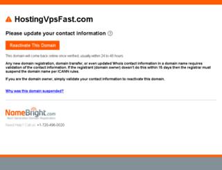 hostingvpsfast.com screenshot