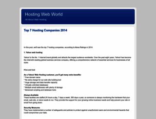 hostingwebworld.blogspot.com screenshot