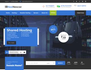 hostnewzer.in screenshot