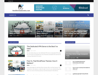 hostreviewgeeks.com screenshot