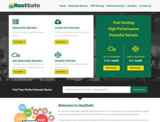 hostsafe.net screenshot