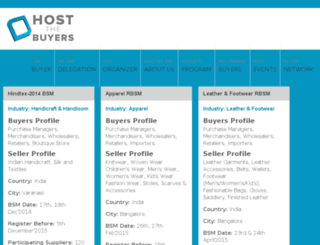 hostthebuyers.com screenshot