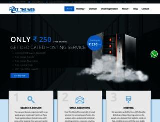 hosttheweb.in screenshot