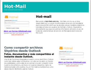 hot-mail.com.mx screenshot