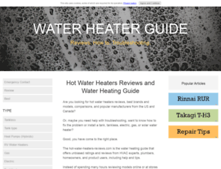 hot-water-heaters-reviews.com screenshot