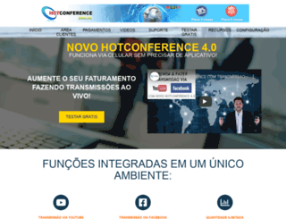 hotconference.net.br screenshot